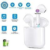 Wireless Earbuds, Bluetooth 5.0 In-Ear Headphones True Wireless Headphones with Charging Case Built-in