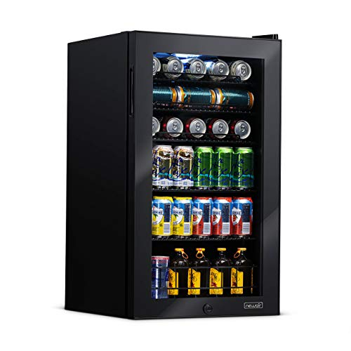 NewAir AB-1200B Beverage Refrigerator, 126 Can, Black, 126 Can
