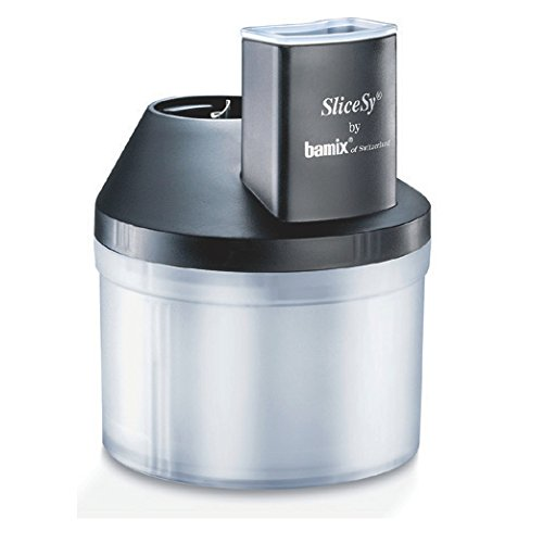Bamix Raspelschüssel SliceSy für Mixer, Kunststoff, 1 Liter, Schwarz