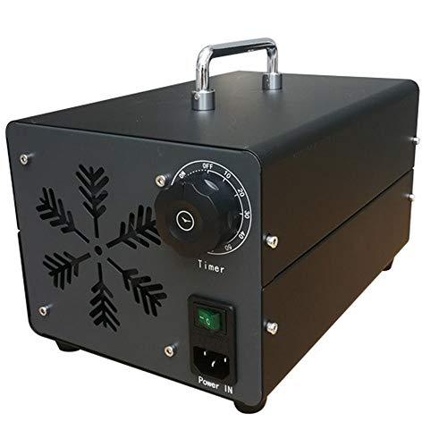 CARLAMPCR Generador de ozono, generador Comercial de ozono Desodorante Negro esterilizador Industrial para purificador de Aire para habitación, Humo, Coche y Animales domésticos,40G