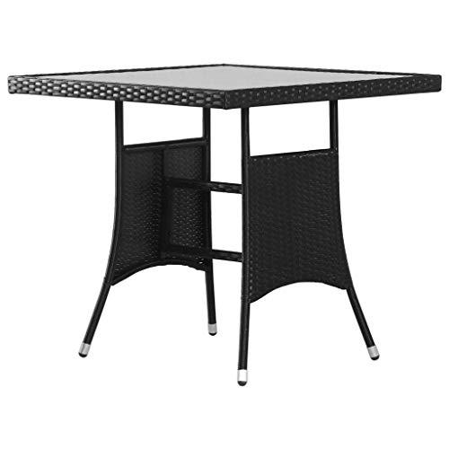 vidaXL Gartentisch 80x80x74 cm Poly Rattan Balkontisch Terrassentisch Tisch