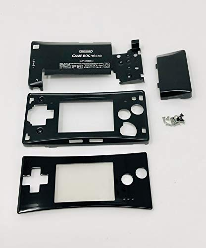 RGRS Replacement Black Full Housing Shell Case Repair Parts Kit w/Lens & Screwdriver for Nintendo Game Boy Micro Console… [video game]