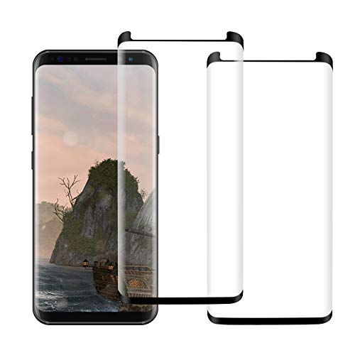 KZLVN [2 Pack] Galaxy S9 Glass Screen Protector,9H Hardness Anti-Scratch Tempered Glass Screen Protector Film for Samsung Galaxy S9