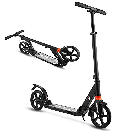 WeSkate Scooter for Adults/Teens, Big Wheels Scooter Easy Folding Kick Scooter Durable Push Scooter Support 220lbs Suitable for Age 10 Up Teens/Adults