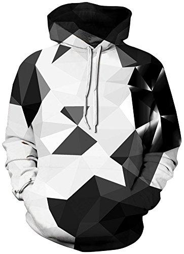 EUDOLAH Herren Slim Fit Kapuzenpullover 3D Druck Hoodie Weihnachten Winter Bunt mit Tasche (S-M, A-a-Diamanten 1)