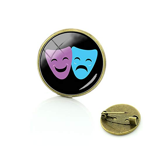 Klassische venezianische Masken-Brosche für Damen, Herren, Kleid, Maske, Party-Schmuck