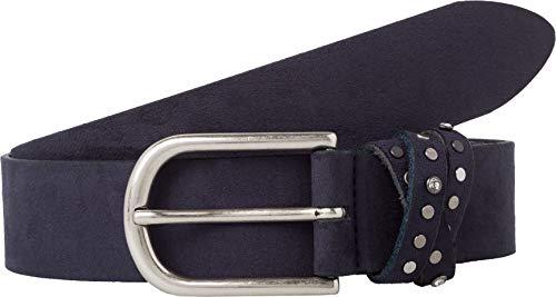 BRAX Damen Style Veloursledergürtel Gürtel, Navy, 105