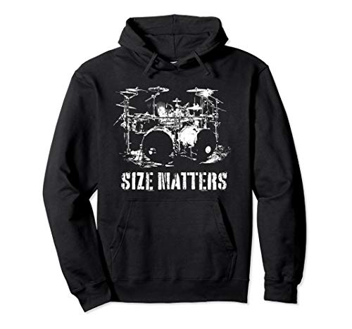 Riesen Schlagzeug Geschenk für Schlagzeuger Size Matters Pullover Hoodie