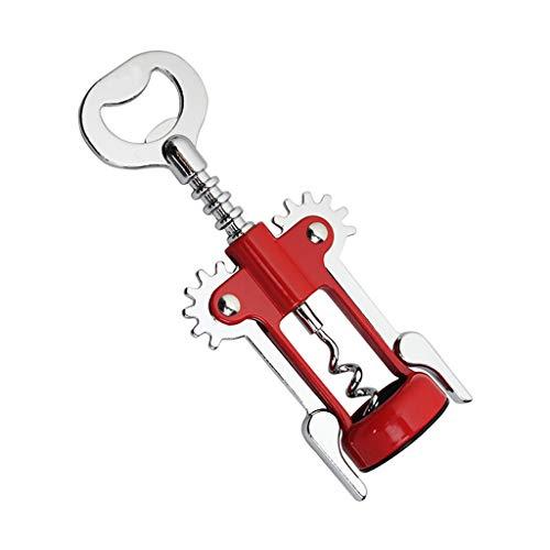 wantanshopping Abrebotellas Abrebotellas multifunción, abrebotellas de aleación de Zinc Tipo ala, Ahorro de Tiempo y Esfuerzo (Rojo) Sacacorchos