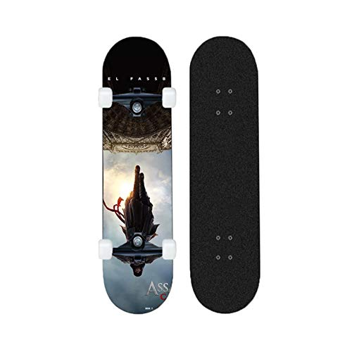 Yizhi Longboard Standard Skateboard Assassin'S Creed Beginners Scooter Adulto Boys and Girls Professional Brush Street Board
