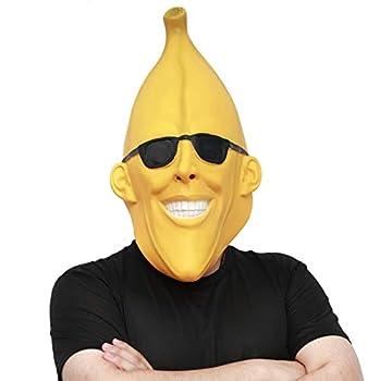 CreepyParty Halloween Costume Party Latex Head Mask Fruit mask Banana Man Costume