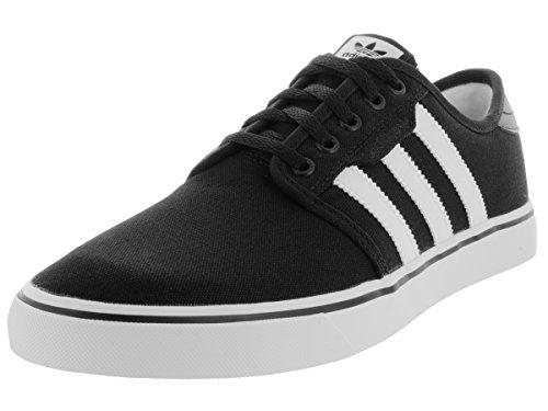 adidas Mens Seeley Core Black Footwear White Canvas Trainers 41 1/3 EU