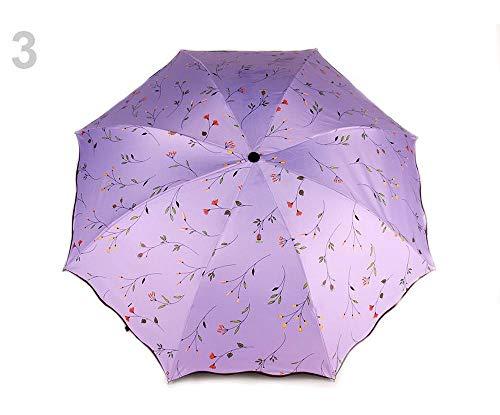 1stück 3 Hell Lila Regenschirm Für Damen Faltbar, Faltbare Regenschirme, Und Regenjacken, Modisches Zubehör