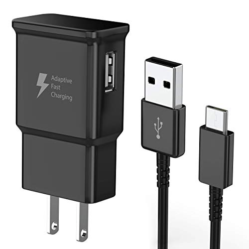 TT&C Adaptive Fast Charger Kit with USB C Type C Charger Cable Compatible with Samsung Galaxy S21/S21 Ultra/S20/S20 Plus/S8/S8 Plus/S9/S9 Plus/S10/S10e/Note 8/Note 9/Note 10/Note 20 (Black)
