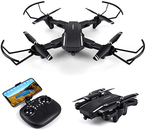 fineco Foldablel Drone with Camera ,RC WiFi Quadcopter with Gesture Control, Headless Mode ,Altitude Hold ,360 °Flip , Easy Control for Beginners.