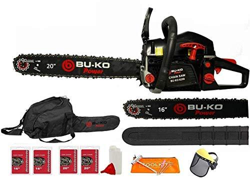 BU-KO 62cc Petrol Chainsaw 3.4HP 20