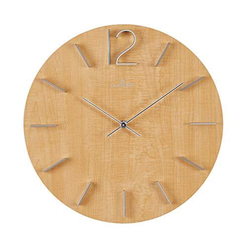 Dugena Reloj de Pared, Madera, marrón Claro, 30,5 cm