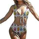 Bikini Trajes De Baño Estampado Bikini Set Bebé Pandas Adorable Lindo