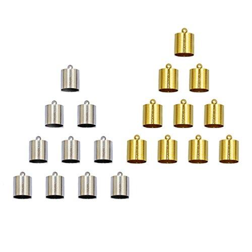Sharplace 20x DIY Ketten Verschluß Für Schnur, Schmuck Herstellung - Gold & Silber