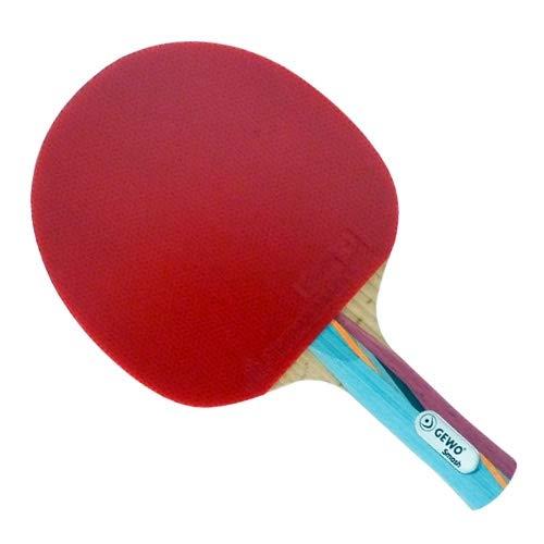 GEWO Tischtennisschläger Smash konkav mit den 2.0 mm ITTF, Rot/Schwarz, One Size