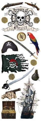Paper House Productions RUBGL-29 Glitzerpullover Pirat, klein