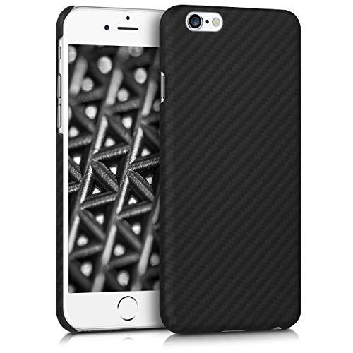 kalibri Hülle kompatibel mit Apple iPhone 6 / 6S - Aramid Handy Schutzhülle - Cover Case Handyhülle Schwarz
