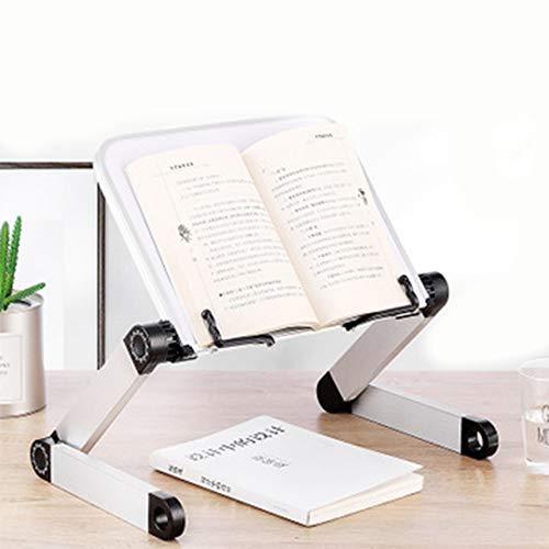Soporte Portátil Libro de Metal, Soporte para Lectura, Sporte pare iPad Laptop Portátil Plegable Book Holder Stand, Soporte Lectura...