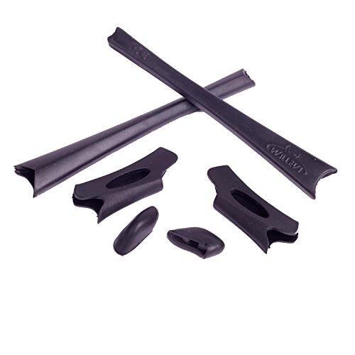 Walleva Earsocks and Nose Pads for Oakley Flak Jacket/Flak Jacket XLJ (Black)