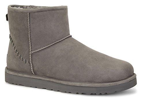UGG Men's Classic Mini Deco Capra Boot,Grey,US 8 M