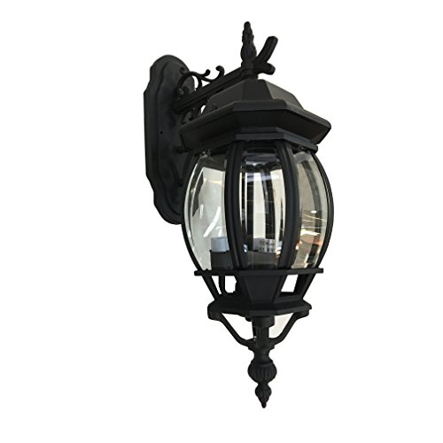 Artcraft Lighting Classico Medium European Style Outdoor Wall Mount, Black