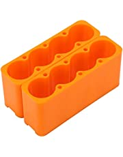 Yagosodee 2 unidades de pinzas de fijación de plástico industrial ajustables 18650 (4 secciones)
