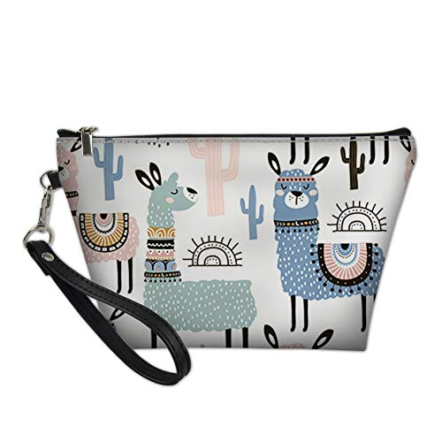Cute Camel Makeup Bag Purse Toiletry Pouch Travel Cosmetic Bags PU Leather Best Gift for Women/Ladies/Girlfriend/Wife/Girls/Birthday/Wedding Anniversary