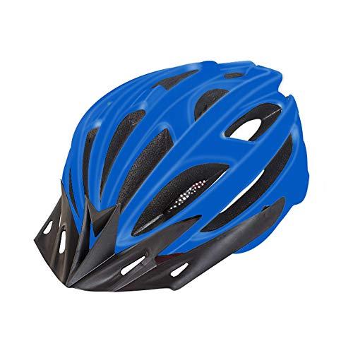 Mit Rücklicht Warnung/Reithelm/Männlich Straße Mountainbike Integrierten Fahrradhelm/Neutral Sonnenschutz/Mehr Farben Zufällig Ausgewählt,Blau