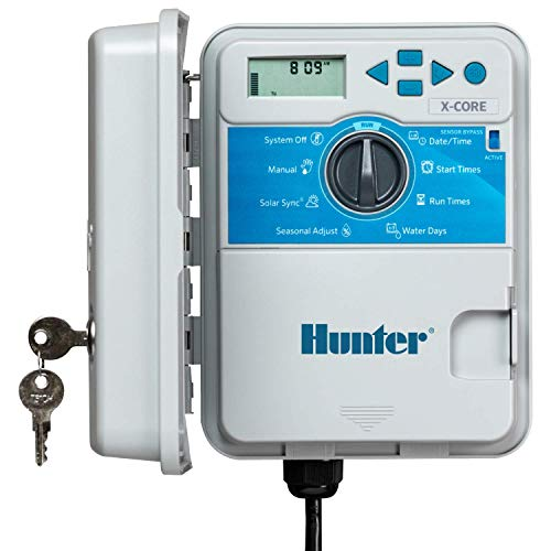Hunter Sprinkler XC400 X-Core 4-Station Outdoor XC-400 Controller Timer,Small