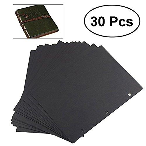 ROSENICE Páginas de recambio para álbumes Papel de recortes 30 hojas 18 * 26.3cm para el favor de fiesta de artesanía de bricolaje (negro)