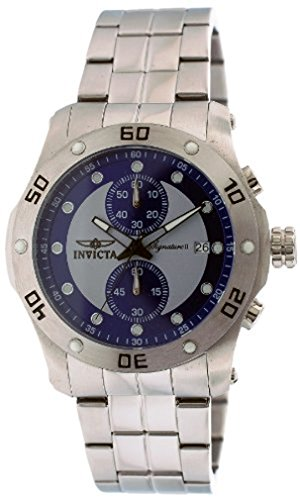 Invicta Signature II Chronograph Blue and Silver Dial Stainless Steel Mens Watch 7383