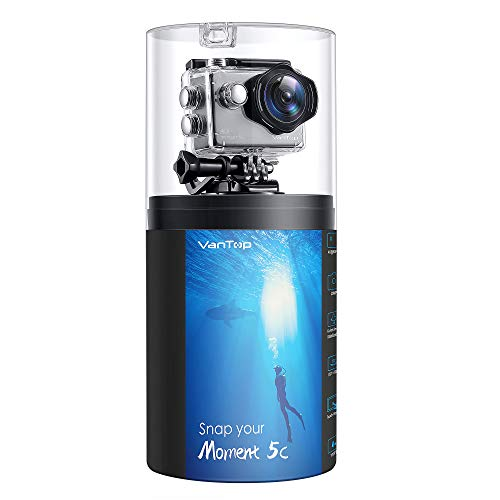 VanTop Moment 5C Native 4K 60fps WiFi Action Camera with Touch Screen, 20MP Super Photo, EIS, 30M Waterproof Underwater Sports...
