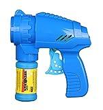 Idena- Pistola Blu, con Soluzione per Bolle di Sapone 53 ml, Colore, 40089