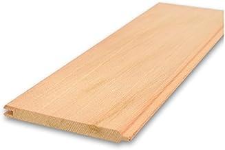 レッドシダー 米杉 無垢羽目板 パネリング 本実V溝 無節 無塗装 8x89x2130mm 6枚入 壁材 天井 腰壁 外壁 軒天