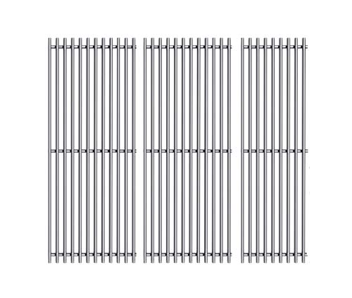 Votenli S47E (3-Pack) 18' Stainless Steel Cooking Grid Grates for Charbroil Performance 4 Burner 463376018P2, 463376117, 463377117, 463673617, 463377017, 463347017 and 5 Burner 463347519