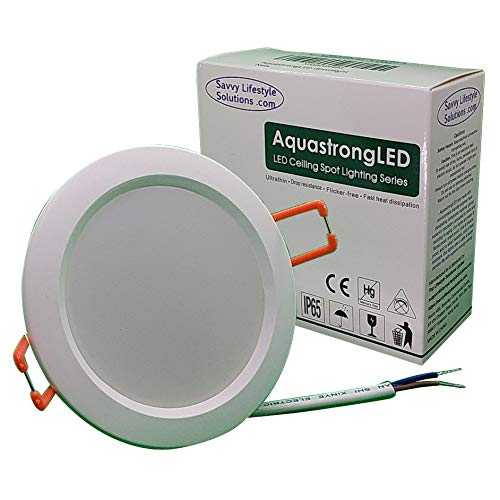 AquastrongLED Downlight 12VAC/DC Indestructible Waterproof Ultrathin Flushmount Ceiling Recessed LED light – Perfect for Off-Grid Marine, RV & Solar Homes! Easy & quick install !