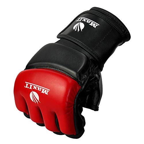 MAXIT MMA Gloves for Men & Women | Professional Fingerless Punching Bag Boxing Gloves for Combat Training, Workout, Grappling, Muay Thai, Kickboxing, Sparring, Martial Arts