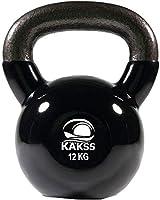 Kakss Vinyl Half Coating Kettle Bell for Gym & Workout (Size: (2KG, 4KG, 6KG, 8 KG, 10KG, 12KG, 14 KG, 16 KG, 18 KG, 20...
