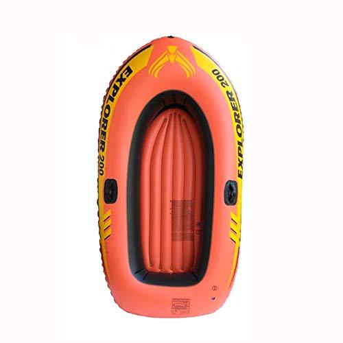 BOOA Aufblasbares Zwei-Personen-Fischerboot verdicktes Gummiboot, aufblasbares Ruderboot, einschließlich Paddel und Pumpe, mit Einer Traglast von 100 kg, Schlauchboot Abmessungen 185 * 98cm