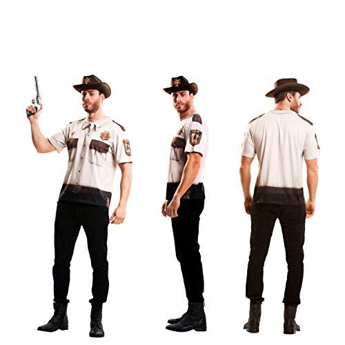 Yijja Fast Fun - Sheriff, camiseta de manga corta para adultos, talla M (Charm Kingdom YJ00043)