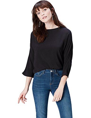 find. 17AMZ807 t shirt damen, Schwarz (Black), 38 (Herstellergröße: Medium)