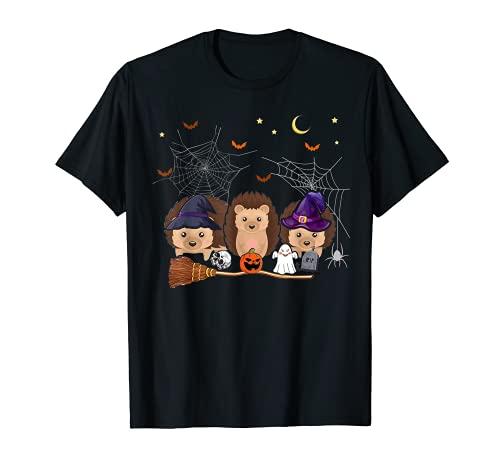 Divertido erizos de bruja Halloween Erizo amante regalos Camiseta