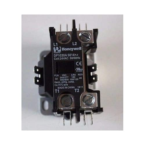 Honeywell DP1030A5014 Deluxe Definite Purpose Contactor, 24 Vac 1 Pole