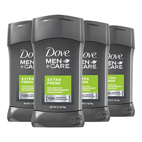 Dove Men+Care Antiperspirant Deodorant 48-Hour Wetness Protection Extra Fresh Non-Irritant Deodorant for Men 2.7 oz, 4 Count