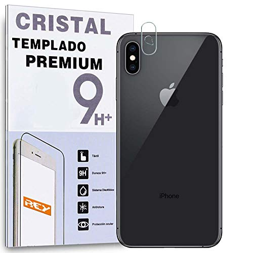 REY - Protector de Pantalla Cámara Trasera iPhone X - iPhone XS, Cristal Vidrio Templado Premium